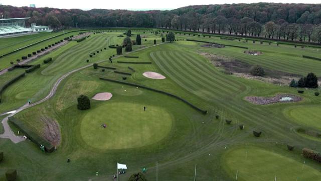 Luftaufnahme Golfanlage Düsseldorf Grafenberg